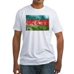 Azerbaijan Flag Fitted T-Shirt