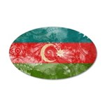 Azerbaijan Flag 38.5 x 24.5 Oval Wall Peel