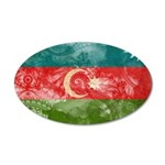 Azerbaijan Flag 22x14 Oval Wall Peel