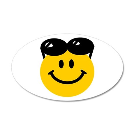 Perched Sunglasses Smiley 38.5 x 24.5 Oval Wall Pe