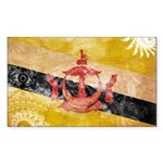 Brunei Flag Sticker (Rectangle 50 pk)