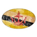 Brunei Flag Sticker (Oval 10 pk)