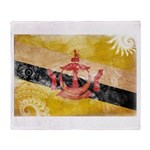 Brunei Flag Throw Blanket