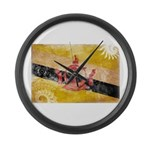 Brunei Flag Large Wall Clock