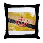 Brunei Flag Throw Pillow