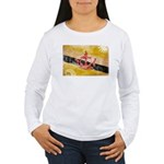 Brunei Flag Women's Long Sleeve T-Shirt