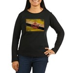 Brunei Flag Women's Long Sleeve Dark T-Shirt
