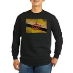 Brunei Flag Long Sleeve Dark T-Shirt