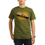 Brunei Flag Organic Men's T-Shirt (dark)