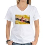 Brunei Flag Women's V-Neck T-Shirt