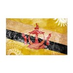 Brunei Flag 38.5 x 24.5 Wall Peel