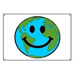 Smiling Earth Smiley Banner