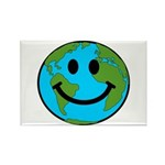 Smiling Earth Smiley Rectangle Magnet