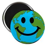 Smiling Earth Smiley Magnet