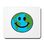 Smiling Earth Smiley Mousepad