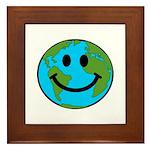 Smiling Earth Smiley Framed Tile