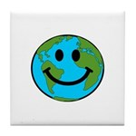 Smiling Earth Smiley Tile Coaster