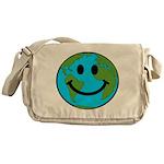 Smiling Earth Smiley Messenger Bag