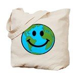 Smiling Earth Smiley Tote Bag