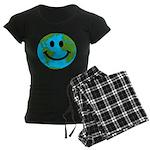 Smiling Earth Smiley Women's Dark Pajamas