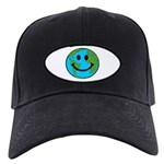 Smiling Earth Smiley Black Cap