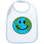 Smiling Earth Smiley Bib