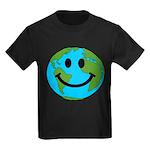 Smiling Earth Smiley Kids Dark T-Shirt