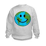 Smiling Earth Smiley Kids Sweatshirt
