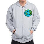 Smiling Earth Smiley Zip Hoodie