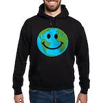 Smiling Earth Smiley Hoodie (dark)