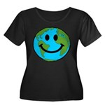 Smiling Earth Smiley Women's Plus Size Scoop Neck