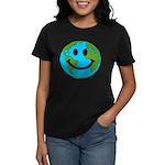 Smiling Earth Smiley Women's Dark T-Shirt
