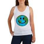 Smiling Earth Smiley Women's Tank Top