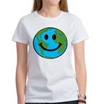 Smiling Earth Smiley Women's T-Shirt