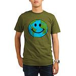 Smiling Earth Smiley Organic Men's T-Shirt (dark)