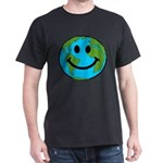 Smiling Earth Smiley Dark T-Shirt