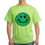 Smiling Earth Smiley Green T-Shirt