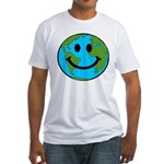 Smiling Earth Smiley Fitted T-Shirt