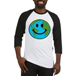 Smiling Earth Smiley Baseball Jersey