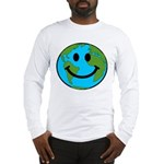 Smiling Earth Smiley Long Sleeve T-Shirt