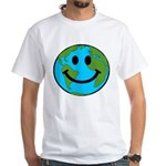 Smiling Earth Smiley White T-Shirt