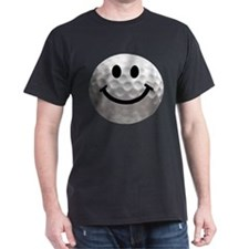 Golf Ball Smiley T-Shirt