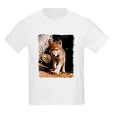 Approaching Wolf Pup Kids T-Shirt