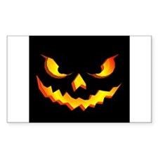 Halloween Pumpkin Face Decal