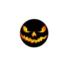 Halloween Pumpkin Face Mini Button (10 pack)