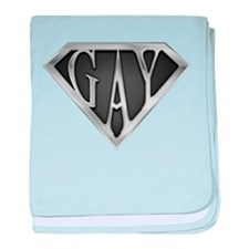 SuperGay(Metal) baby blanket