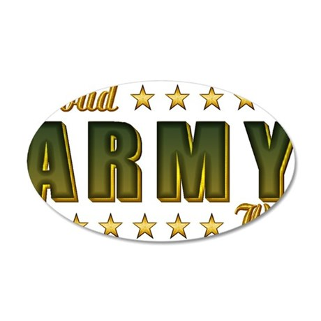 Proud Army Wife 38.5 x 24.5 Oval Wall Peel