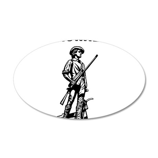 Air National Guard 38.5 x 24.5 Oval Wall Peel