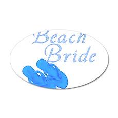 Beach Bride 38.5 x 24.5 Oval Wall Peel