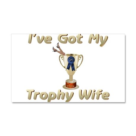 My Trophy Wife Car Magnet 20 x 12
